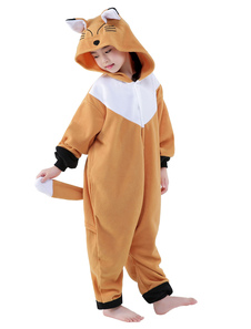 Fox Cartoon Onesie animale pour Costume Kigurumi flanelle enfants Halloween