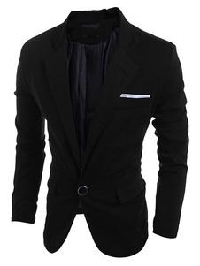 Image of Giacca da uomo 2019 in blazer di cotone per uomo