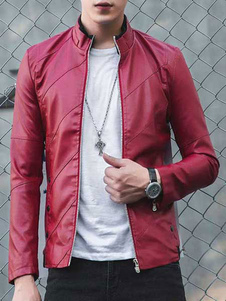 men-biker-jacket-stand-collar-leather-jacket-slim-fit-yellow-red-black