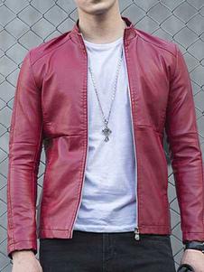 men-leather-jacket-slim-fit-zip-up-biker-jacket-black-blue-brown-red