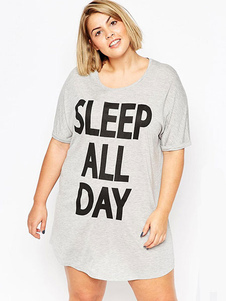 gray-letters-print-loose-t-shirt-dresss-cotton-short-sleeve-plus-size-dress-for-girls