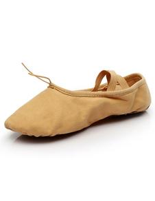 Ballet de las mujeres zapatos de baile de Criss-Cross Slip-on ovalada