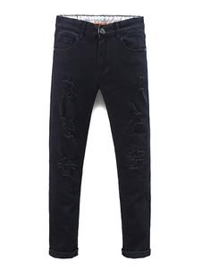 black-ripped-jeans-men-straight-skinny-denim-jeans