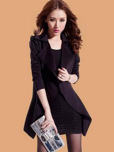 women-blazer-suit-long-sleeve-medium-length-slim-fit-leisure-suit