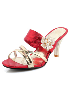red-wedding-shoes-women-contrast-color-pearls-flower-high-heel-bridal-shoes