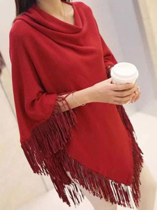 Image of Poncho donna cappotto 3/4-Length manica nappe capispalla breve d