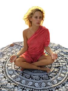 Image of Nero turno Elephant stampa cotone spiaggia coperta Cover Ups femminile