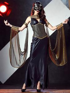 Image of Abito bicolore Carnevale Costume Egitto Regina donna con Polsiere Carnevale