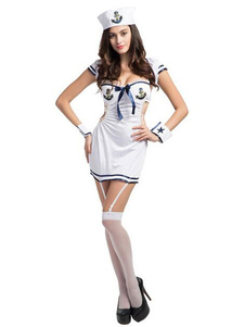 Image of Cosplay Costume marina marinaio sexy Costume Halloween femminile con abiti Bodycon