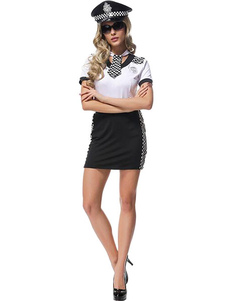 Image of Poliziotto Halloween Costume Sexy donna abiti Bodycon breve cosplay costume