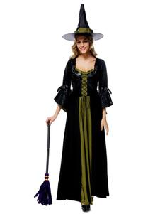 Image of Contrasto colore Flare abito Costume Sexy Carnevale strega Costume femminile Carnevale