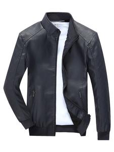 black-leather-jakcet-zip-up-long-sleeve-fashion-bomber-jacket-coat-for-men