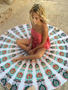Image of Nuotata copricostumi Multicolor stampato cotone rotondo spiaggia coperta