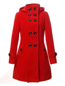 Image of Cappotto Rosso Donna 2020 Cappotto Trench da Donna Giacca Doppio
