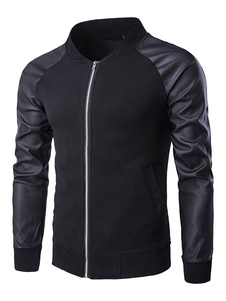black-men-jackets-chinlon-splicing-pu-sleeve-leisure-jackets-men-stand-collar-cotton-outwear