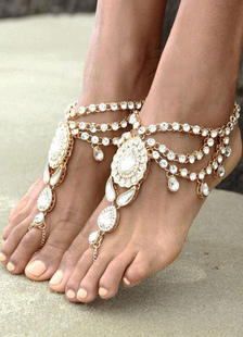bohemian-wedding-shoes-silver-rhinestone-layered-anklets
