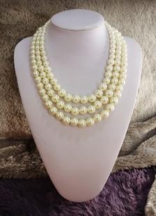 Image of Vintage collana perle nozze a strati gioielli da sposa