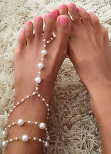 bohemian-wedding-shoes-white-pearl-layered-anklets