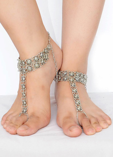 bohemian-wedding-shoes-silver-anklets