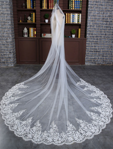 cathedral-weddinng-veil-lace-trim-tulle-1-tier-waterfall-bridal-veil-with-comb