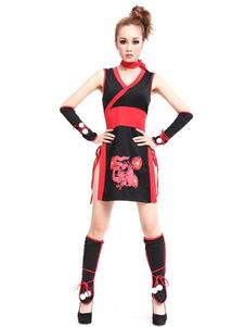 halloween-sexy-ninja-costume-women-red-black-dragon-printed-costume-outfit