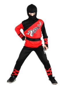 men-ninja-costume-halloween-red-black-dragon-printed-kids-costume-outfit-in-4-piece