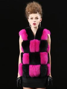 faux-fur-jacket-jewel-neckline-sleeveless-two-tone-patchwork-vest-fort-women