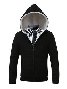 Image of Cappotto invernale uomo con cappuccio chiusura lampo anteriore