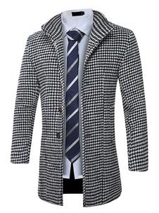 Abrigo de algodón de cuello vuelto estilo clásico