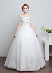 lace-wedding-dress-off-the-shoulder-a-line-half-sleeve-sequins-beaded-floor-length-bridal-dresses