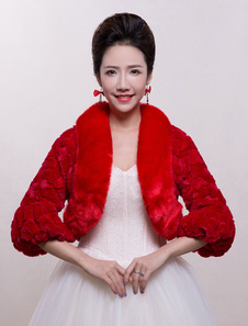 red-weddding-jacket-faux-fur-bridal-shrug-with-bell-sleeve