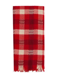 Image of Morbida sciarpa delle donne sciarpa rossa Plaid velluto frange d