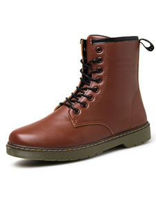 Image of STRINGATE stivali da pioggia uomo impunture comodi stivaletti di pelle