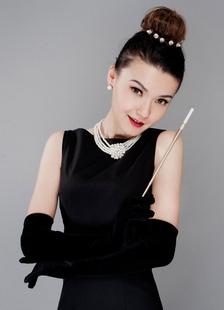 Image of Matrimonio nero guanti da sera lunghi guanti di mano elegante ra