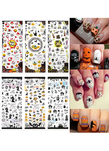 halloween-nail-stickers-orange-printed-nail-decals-2-piece-in-set