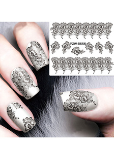 black-nail-stickers-lace-print-2-color-nail-accessories