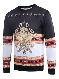 Herren Pullover Sweatshirt 3D Drucken Baumwolle Langarm Winter Top