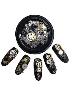 Image of Nail Art decorazioni unghie fai da TE portatile adesivi Gear Pun