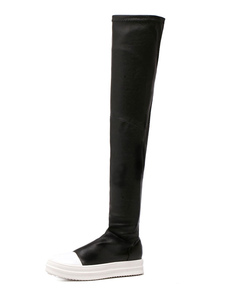 two-tone-boots-over-the-knee-platform-women-round-toe-black-tigh-high-boots