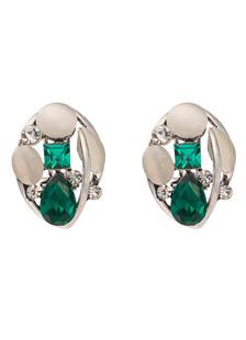 Image of Matrimonio verde orecchini strass nuziale di cristallo Stud