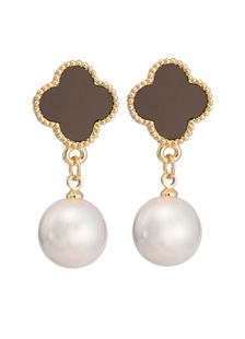 Image of Oro orecchini sposa lega elegante perla Orecchini goccia nuziale