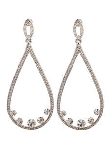 Image of Nozze d'argento orecchini eleganti orecchini goccia nuziale