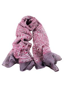 Image of Stampato sciarpa leggera delle donne sciarpe stile etico contras