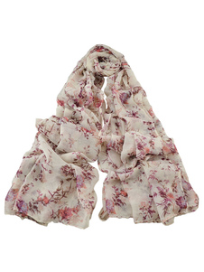 Image of Sciarpa stampata Multicolor floreale stampato leggera sciarpa do