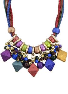Image of Bohemien dichiarazione collana Multicolor donne