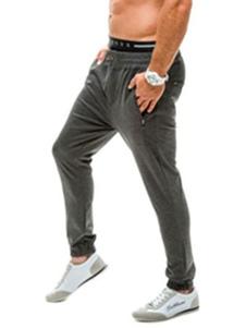 Image of Grigio sport pantaloni pantaloni lunghi dritti Casual pantaloni