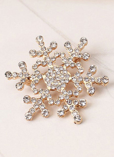 Image of Oro spilla strass natale neve donna forma spilla Pin