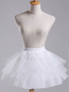 Image of Dolce Lolita sottoveste bianco breve Organza Tu Tu gonna livelli