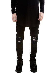 ripped-black-jeans-men-casual-distressed-denim-jeans
