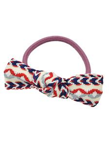 Image of Cravatta blu capelli accessori per capelli modello opera d'arte si inchina